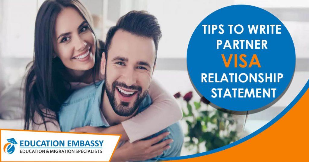 Tips to Write Partner VISA Relationship Statement