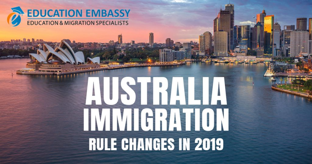 Australia Immigration Rule Changes in 2019 EDU