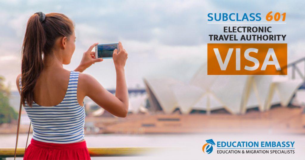 Subclass 601 Electronic Travel Authority - Visa