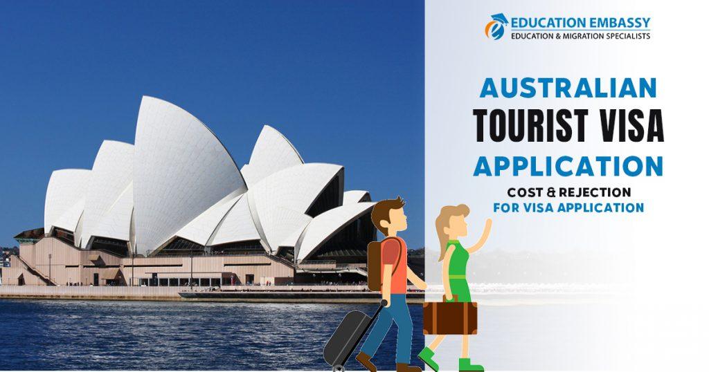 Australian Tourist Visa Application Cost & Rejection for Visa application