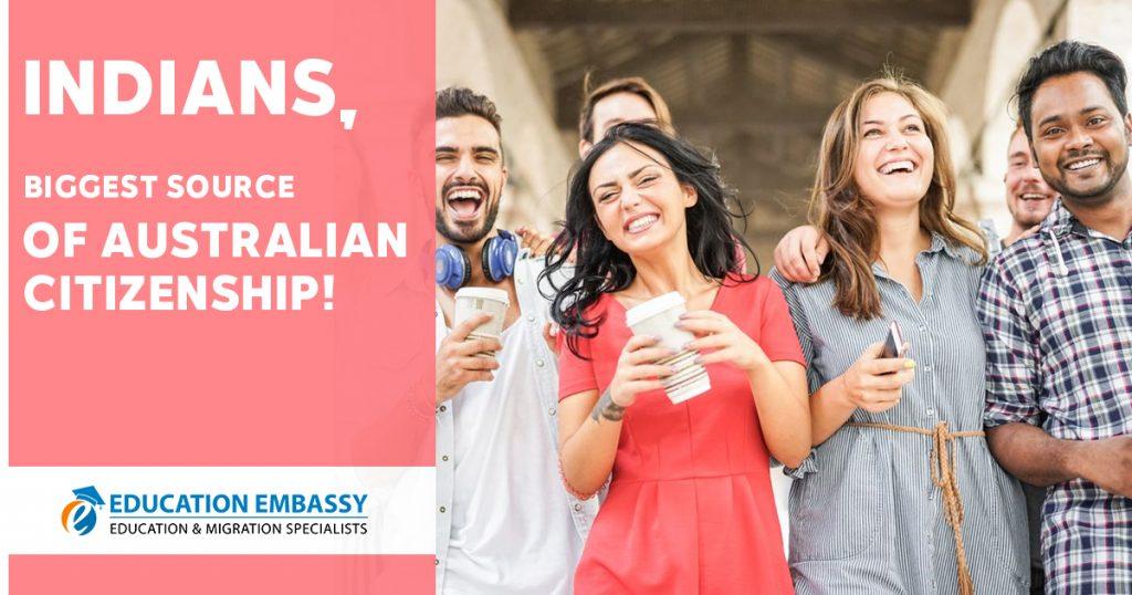 Indians biggest source of Australian citizenship!