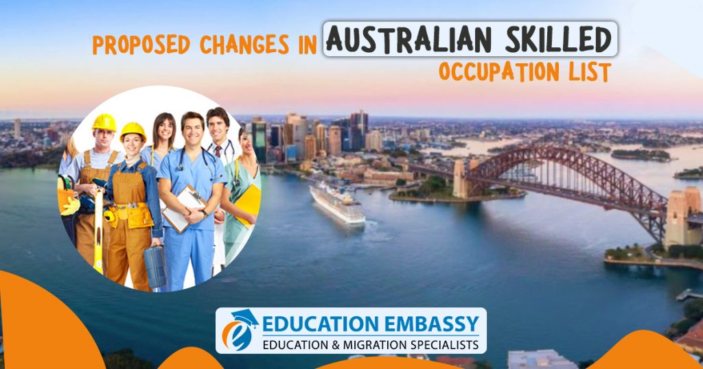 Proposed Changes In Australian Skilled Occupation List 2019 - 2020