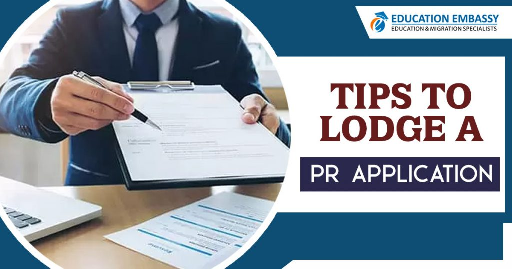Tips to lodge a PR application