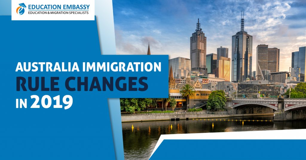 Changes by Australian immigration in point system 2019/2020