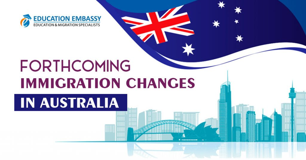 Forthcoming immigration changes in Australia