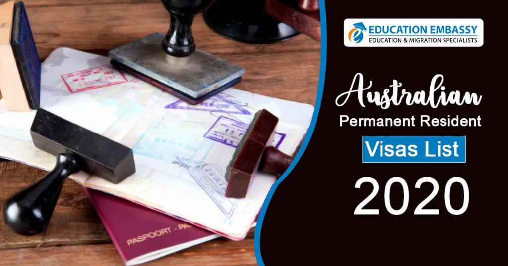 Australian Permanent Resident Visas List 2020