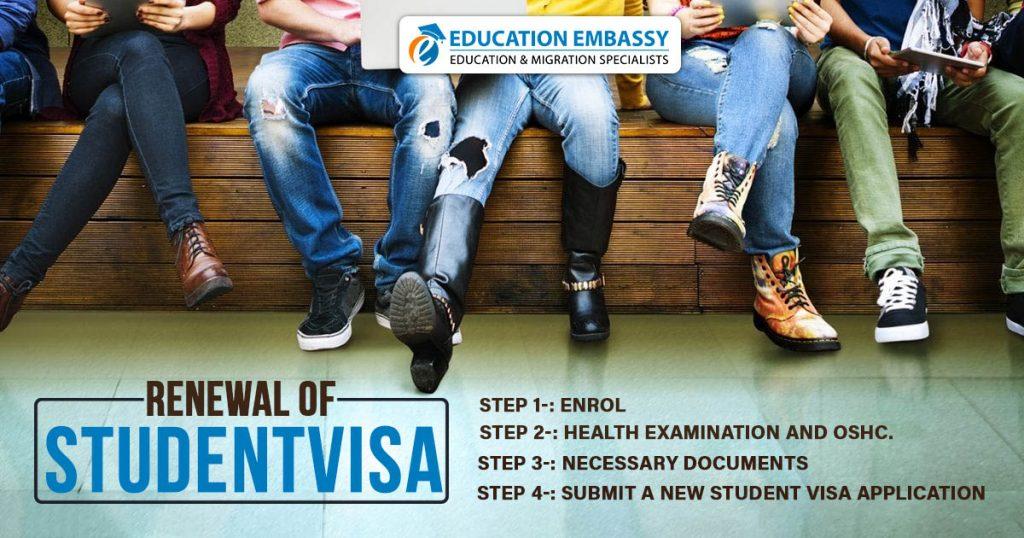 Renewal of student visa Australia