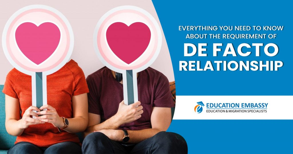 Everything you need to know about the requirement of de facto relationship